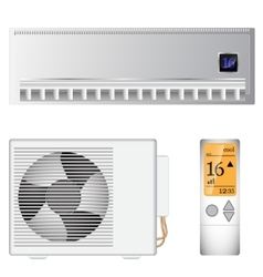 split air conditioner vector image