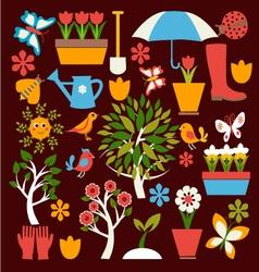 Spring symbol gardening vector