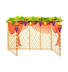 Sukkah for celebrating Sukkot vector