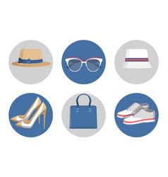 Summer mode accessories set vector