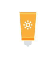 sunblock graphic design template isolated vector image
