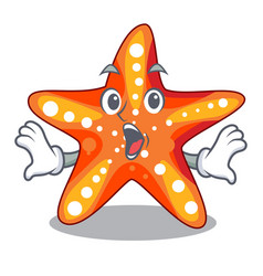 Surprised starfish isolated with in the cartoons vector