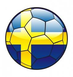Sweden flag on soccer ball vector
