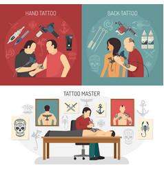 tattoo studio design concept vector image