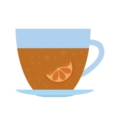 tea citrus fruit beverage icon vector image