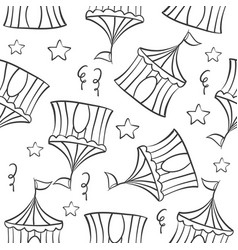 Tent circus hand draw pattern collection vector