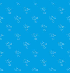 Throwing stones pattern seamless blue vector