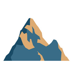 top mountain peaks blue logo silhouette outdoor vector image