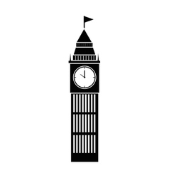 Tower clock building vector