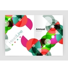 Transparent circle composition on business annual vector image