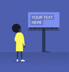your text here mockup outdoor advertising young vector image