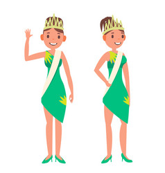 beauty pageant woman on beauty pageant vector image vector image