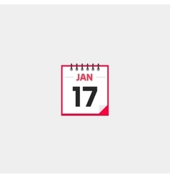 Calendar icon isolated on gray background vector image