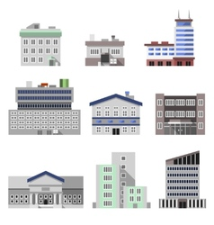 Office buildings flat vector