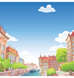 Old City Streets vector image