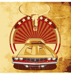 american style poster vector image vector image