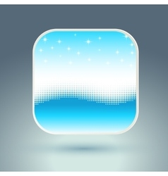 App icon with snowflakes and wave vector image vector image