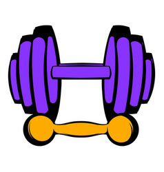 barbell and dumbbells icon icon cartoon vector image