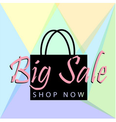 big sale poster or banner with black bag and vector image vector image