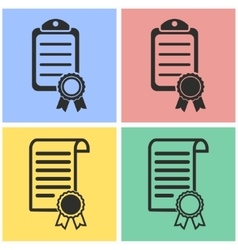 Certificate icon set vector