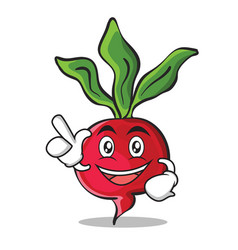 have an idea radish character cartoon collection vector image vector image