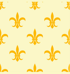 seamless golden pattern with fleur de lis vector image