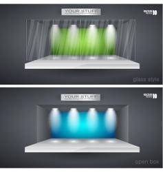 showroom vector image vector image