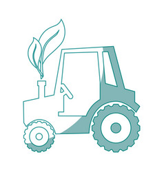 tractor vehicle icon vector image