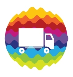 Delivery Rainbow Color Icon for Mobile vector image vector image