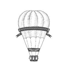 hot air ballon vintage transport travel vector image