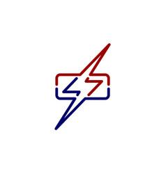 wrath thunder bolt theme sign vector image vector image