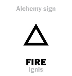 alchemy fire ignis vector image vector image