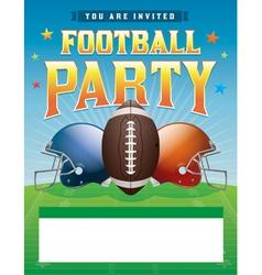 American football party flyer vector