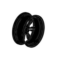 black disk wheel vector image vector image
