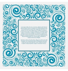 Blue square frame vector image vector image