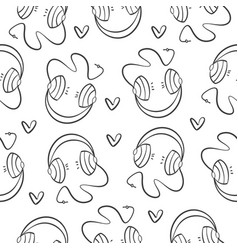 collection music element pattern style vector image