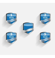 Guarantee Label Shield vector image