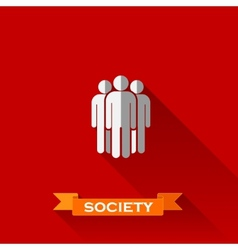 people group in flat design style with long vector image vector image