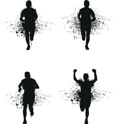 runner backgrounds vector image vector image