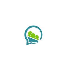 team work communication logo vector image