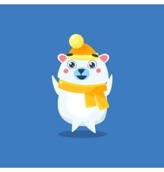 Winter Dressed Polar Bear vector image vector image