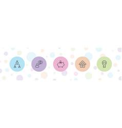 5 conceptual icons vector