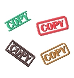 A set of rectangular stamps copy vector image