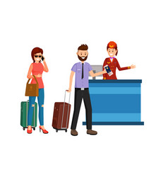 Abroad business trip flat vector