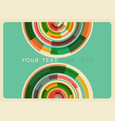 abstract colorful circles background eps10 vector image