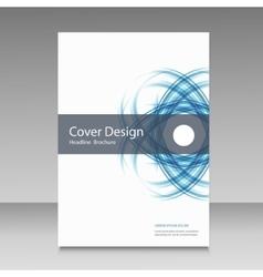Abstract line brochure design vector