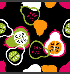 abstract pattern with pears vector image