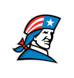 American patriot head usa flag mascot vector