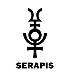 Astrology serapis hellenistic graeco-egyptian vector