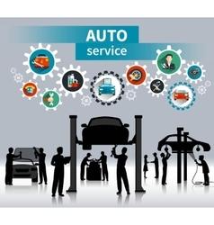 Auto Service Concept Background vector image